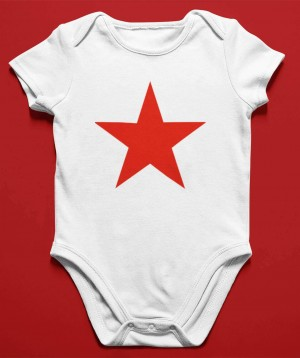 Rote Stern Baby Body - Baby